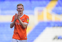 Blackpool's Callum Guy applauds the fans at the final whistle<br /> <br /> Photographer Chris Vaughan/CameraSport<br /> <br /> The EFL Sky Bet League One - Coventry City v Blackpool - Saturday 7th September 2019 - St Andrew's - Birmingham<br /> <br /> World Copyright © 2019 CameraSport. All rights reserved. 43 Linden Ave. Countesthorpe. Leicester. England. LE8 5PG - Tel: +44 (0) 116 277 4147 - admin@camerasport.com - www.camerasport.com