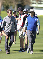 160210 Huey Lewis and Bill Murray during the Wednesday Shootout at The AT&T National Pro Am at The Pebble Beach Golf Links in Monterey, California. (photo credit : kenneth e. dennis/kendennisphoto.com)