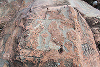 Authentic Hawaiian petroglyphs of family human figures, Olowalu, Maui