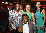John Douglas Thompson, Ray Athony Thomas, Constanza Romero Wilson, Harvy Blanks and Carra Patterson attends the 2017 New York Drama Critics' Circle Awards Reception at Feinstein's / 54 Below on 5/18/2017 in New York City.