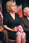 Tina Brown sits on stage at the John Jay Justice Award ceremony, April 5 2011.