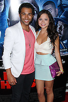 "LOS ANGELES, CA, USA - APRIL 16: Corbin Bleu, Sasha Clements at the Los Angeles Premiere Of Open Road Films' ""A Haunted House 2"" held at Regal Cinemas L.A. Live on April 16, 2014 in Los Angeles, California, United States. (Photo by Xavier Collin/Celebrity Monitor)"