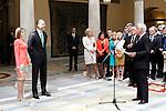 King Felipe IV of Spain and Queen of Spain Letizia withJuan Carlos Fitz-James Stuart and Martinez de Irujo, Duke of Alba during the commemoration of the bicentennial of the Delegation of the Greatness of Spain. June 16,2015. (ALTERPHOTOS/Acero)
