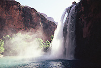 Havasu Falls on a summer  morning in northern Arizona's Havasupai Indian Reservatton