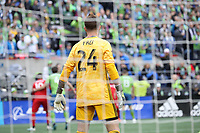 SEATTLE, WA - NOVEMBER 10: Stefan Frei #24 of the Seattle Sounders FC stands in goal during a game between Toronto FC and Seattle Sounders FC at CenturyLink Field on November 10, 2019 in Seattle, Washington.