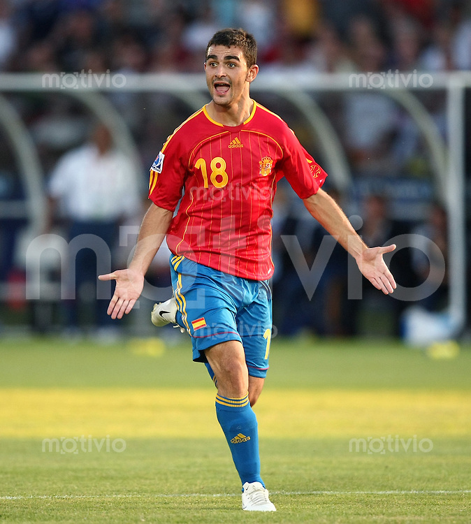 Fussball International Achtelfinale U 20 WM  Spanien 4 -2  Brasilien n.V. JUBEL ESP; Adrian Lopez (ESP)