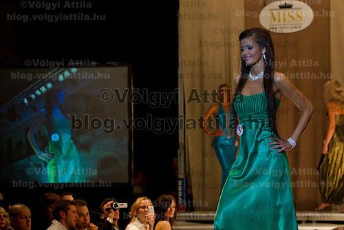 Kinga Kovacs attends the Miss Hungary 2010 beauty contest held in Budapest, Hungary on November 29, 2010. ATTILA VOLGYI