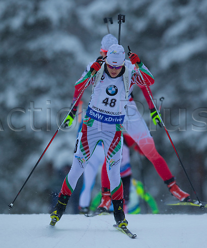 06.03.2016. Oslo Holmenkollen, Oslo, Norway. IBU Biathlon World Championships. Emilie Yordanova of Bulgaria competes in the ladies 10km pursuit competition during the IBU World Championships Biathlon in Holmenkollen Oslo, Norway.