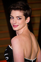 Anne Hathaway arriving for the 2014 Vanity Fair Oscars Party, Los Angeles. 02/03/2014 Picture by: James McCauley/Featureflash