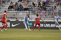 Boyds, MD - Saturday June 03, 2017: Andressa Cavalari Machry, Estelle Johnson during a regular season National Women's Soccer League (NWSL) match between the Washington Spirit and Houston Dash at Maureen Hendricks Field, Maryland SoccerPlex.