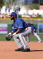Tyreque Reed - Texas Rangers 2020 spring training (Bill Mitchell)