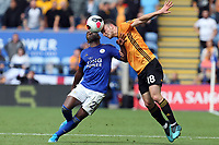 Diogo Jota of Wolverhampton Wanderers and Ricardo Pereira of Leicester City during Leicester City vs Wolverhampton Wanderers, Premier League Football at the King Power Stadium on 11th August 2019