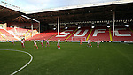 The Sheffield United Ladies' team warm up before kick off during the FA Women's Cup First Round match at Bramall Lane Stadium, Sheffield. Picture date: December 4th, 2016. Pic Clint Hughes/Sportimage