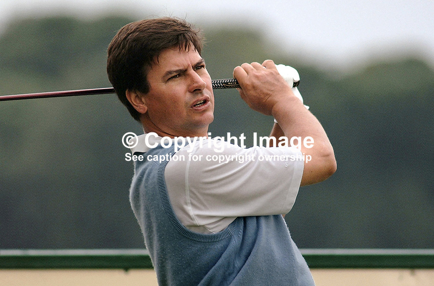 Miguel Martin, professional golfer, Spain. Ref: 2001062411. Taken at Murphy's Irish Open Golf event at Fota Island between 26 and 28 June 2001...Copyright Image from Victor Patterson, 54 Dorchester Park, Belfast, UK, BT9 6RJ..Tel: +44 28 9066 1296.Mob: +44 7802 353836.Voicemail +44 20 8816 7153.Skype: victorpattersonbelfast.Email: victorpatterson@mac.com.Email: victorpatterson@ireland.com (back-up)..IMPORTANT: If you wish to use this image or any other of my images please go to www.victorpatterson.com and click on the Terms & Conditions. Then contact me by email or phone with the reference number(s) of the image(s) concerned.