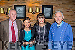 Fit for a party<br /> -----------------<br /> Members of the Manor West hotel Tralee,  leisure centre gathered in the hotel bar last Saturday night for their Christmas party, L-R Con Turner, Marie McKenna, Aoife O'Hanlon with Paddy Fitzgerald.