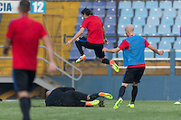 Guatemala City, Guatemala - March 24, 2016: The U.S. Men's National team train in preparation for their World Cup Qualifying matches versus Guatemala at Estadio Mateo Flores.