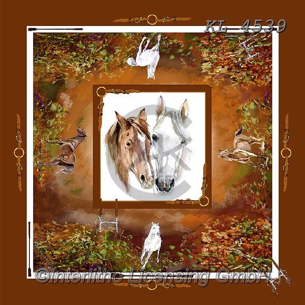 Interlitho-, STILL LIFE STILLEBEN, NATURALEZA MORTA, paintings+++++,horses,KL4539,#i#, EVERYDAY ,napkins,Franco