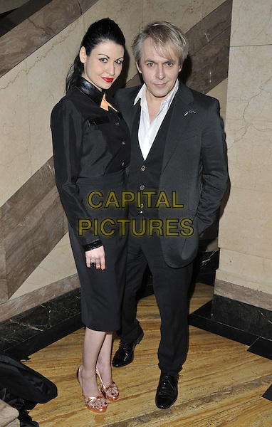 LONDON, ENGLAND - FEBRUARY 14: Nefer Suvio &amp; Nick Rhodes attends the Pam Hogg a/w 2014 catwalk show, London Fashion Week autumn/winter 2014 season, Freemasons' Hall, Great Queen St., on Friday February 14th, 2014 in London, England, UK.<br /> CAP/CAN<br /> &copy;Can Nguyen/Capital Pictures