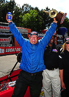 May 6, 2012; Commerce, GA, USA: NHRA  top dragster driver Ed Richardson during the Southern Nationals at Atlanta Dragway. Mandatory Credit: Mark J. Rebilas-