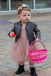 18-month old Charlie during the Easter Egg Hunt at Legends in Sparks, Nevada on Saturday, April 20, 2019.
