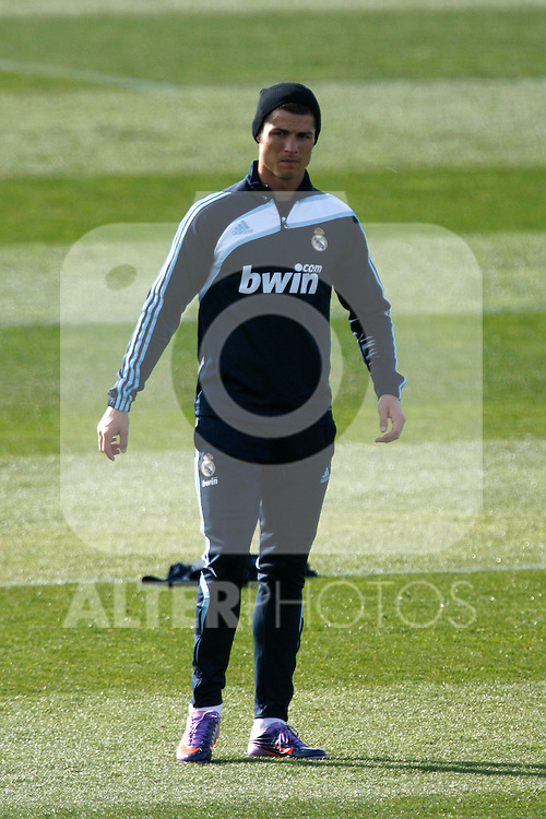 Madrid (11/03/10).-Entrenamiento del Real Madrid..Cristiano Ronaldo...© Alex Cid-Fuentes/ ALFAQUI..Madrid (11/03/10).-Training session of Real Madrid c.f..Cristiano Ronaldo...© Alex Cid-Fuentes/ ALFAQUI.