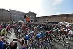 The start of the 103rd edition of GranPiemonte 2019 running 183km from Aglie to Santuario di Oropa (Biella), Italy. 10th Octobre 2019. <br /> Picture: Fabio Ferrari/LaPresse | Cyclefile<br /> <br /> All photos usage must carry mandatory copyright credit (© Cyclefile | LaPresse/Fabio Ferrari)