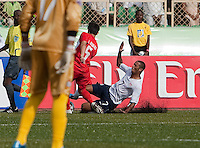 Stefan Jerome slides on the play. US Under-17 Men's National Team defeated United Arab Emirates 1-0 at Gateway International  Stadium in Ijebu-Ode, Nigeria on November 1, 2009.