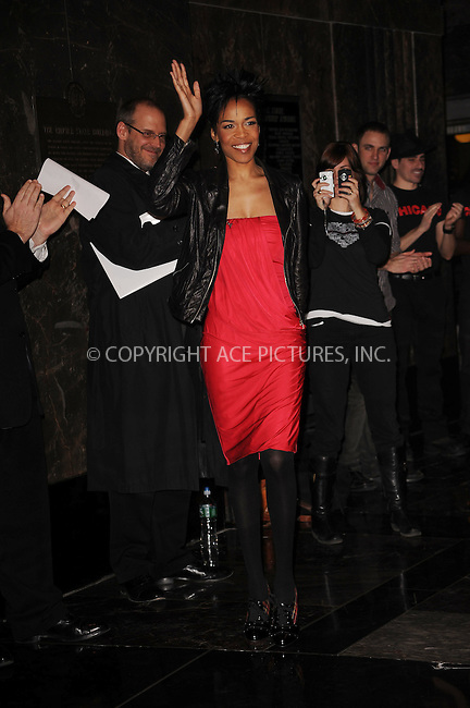 WWW.ACEPIXS.COM . . . . . ....February 5 2010, New York City....Singer Michelle Williams turns on the lights on The Empire State Building in support of Go Red For Women and National Wear Red Day on February 5, 2010 in New York City.....Please byline: KRISTIN CALLAHAN - ACEPIXS.COM.. . . . . . ..Ace Pictures, Inc:  ..(212) 243-8787 or (646) 679 0430..e-mail: picturedesk@acepixs.com..web: http://www.acepixs.com