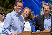 Ground Breaking Ceremony for the New Meigs Point Nature Center at Hammonasset Beach State Park. Connecticut Governor Dannel Malloy.
