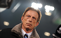 FUSSBALL   EUROPA LEAGUE   SAISON 2011/2012  SECHZEHNTELFINALE Hannover 96 - FC Bruegge                                    16.02.2012 Trainer Christoph Daum (Bruegge)