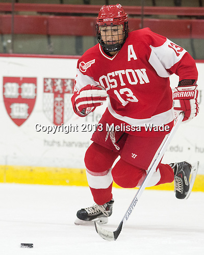 Kaleigh Fratkin (BU - 13) - The Harvard University Crimson defeated the visiting Boston University Terriers 3-1 on Friday, November 22, 2013, at Bright-Landry Hockey Center in Cambridge, Massachusetts.