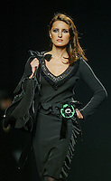 A model presents a creation by Elio Berhanyer  during the Pasarela Cibeles fashion show 2005, February 15, 2005 in Madrid. Photo by Victor Fraile / studioEAST