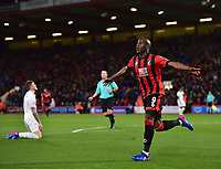 Bournemouth's Benik Afobe celebrates scoring his sides second goal <br /> <br /> Bournemouth 2 - 0 Swansea<br /> <br /> Photographer David Horton/CameraSport<br /> <br /> The Premier League - Bournemouth v Swansea City - Saturday 18th March 2017 - Vitality Stadium - Bournemouth<br /> <br /> World Copyright &copy; 2017 CameraSport. All rights reserved. 43 Linden Ave. Countesthorpe. Leicester. England. LE8 5PG - Tel: +44 (0) 116 277 4147 - admin@camerasport.com - www.camerasport.com