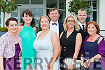 Killarney Musical Society cast at the All Ireland Musical society awards in the INEC on Saturday night l-r: Michelle Murphy, Cait Duggan, Diane O'Sullivan, Fergal Cleary, Paddie Keogh, Owen Roberts and Margaret Cronin Roberts.