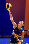 Elena Pietrini of Italy serves the ball during the FIVB Volleyball Nations League Hong Kong match between Japan and Italy on May 29, 2018 in Hong Kong, Hong Kong. Photo by Marcio Rodrigo Machado / Power Sport Images