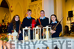 Aishling Cooke, Conor Hennessy, Alan Foley and Caoimhe Scanlon getting ready to take part in the Christmas Celebration held in St Johns Church Ballybunion on Sunday evening.