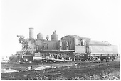 3/4 fireman's-side view of D&amp;RGW #360 in Gunnison yard.<br /> D&amp;RGW  Gunnison, CO  9/19/1948