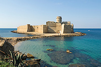 Italy, Calabria, Le Castella: Aragon castle at  Ionian Sea