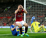 Ander Herrera of Manchester United reacts to a missed chance during the English Premier League match at Old Trafford Stadium, Manchester. Picture date: April 4th 2017. Pic credit should read: Simon Bellis/Sportimage