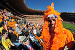 during the 2010 World Cup Soccer match between Denmark and Nederland played at Soccer City Stadium in Johannesburg South Africa on 14 June 2010.  Photo: Gerhard Steenkamp/Clevia Media. Cell: +27 82 453 2345