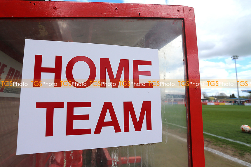 Home Team sign on the dugout during Stevenage vs Barnet, Sky Bet EFL League 2 Football at the Lamex Stadium on 1st April 2017