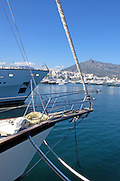 Yachts, marina, harbour, Puerto Banus, Marbella, Spain, April, 2016, 201604142414<br />