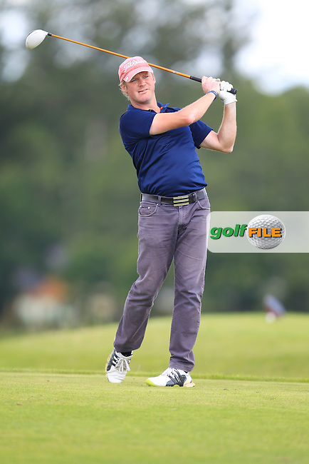 Richard Creamer (Golfquip) on the 6th tee during the Johnston Mooney &amp; O'Brien PGA Challenge Round 1 at Carton House Golf Club  7th August 2013 <br /> Picture:  Thos Caffrey / www.golffile.ie