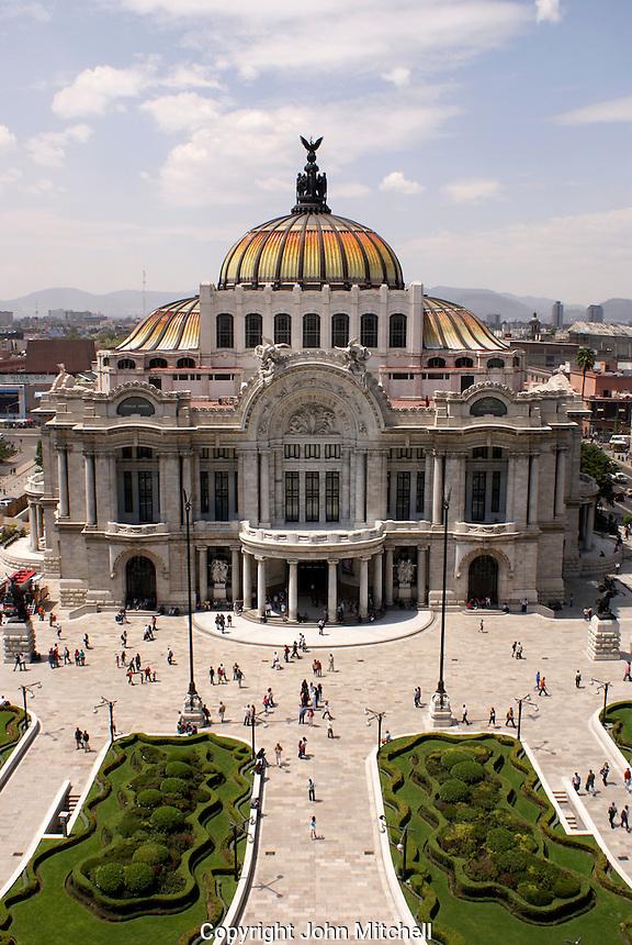 The Palacio de Bellas Artes or Fine Arts Palace in downtown Mexico City