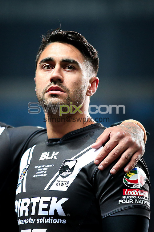 Picture by Alex Whitehead/SWpix.com - 05/11/16 - Rugby League - 2016 Ladbrokes Four Nations - New Zealand v Australia - Ricoh Arena, Coventry, England - New Zealand's Shaun Johnson.