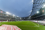 10.03.2019, HDI Arena, Hannover, GER, 1.FBL, Hannover 96 vs Bayer 04 Leverkusen<br /> <br /> DFL REGULATIONS PROHIBIT ANY USE OF PHOTOGRAPHS AS IMAGE SEQUENCES AND/OR QUASI-VIDEO.<br /> <br /> im Bild / picture shows<br /> Spielfeld vor Spielbeginn, <br /> <br /> Foto &copy; nordphoto / Ewert