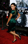 "HOLLYWOOD, CA. - September 16: Actress Rosario Dawson arrives at the Los Angeles Premiere of ""Eagle Eye"" at the Mann's Grauman Chinese Theatre on September 16, 2008 in Los Angeles, California."