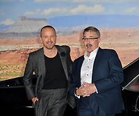"LOS ANGELES, USA. October 08, 2019: Aaron Paul & Vince Gilligan at the premiere of ""El Camino: A Breaking Bad Movie"" at the Regency Village Theatre.<br /> Picture: Paul Smith/Featureflash"