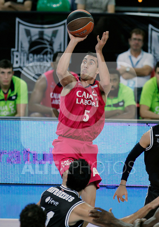 Caja Laboral's Pablo Prigioni during Supercopa ACB Semifinal match.September 30,2011. (ALTERPHOTOS/Acero)