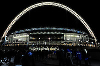 20131018 Copyright onEdition 2013©<br /> Free for editorial use image, please credit: onEdition<br /> <br /> General view of Wembley Stadium before the Heineken Cup match between Saracens and Stade Toulousain at Wembley Stadium on Friday 18th October 2013 (Photo by Rob Munro)<br /> <br /> For press contacts contact: Sam Feasey at brandRapport on M: +44 (0)7717 757114 E: SFeasey@brand-rapport.com<br /> <br /> If you require a higher resolution image or you have any other onEdition photographic enquiries, please contact onEdition on 0845 900 2 900 or email info@onEdition.com<br /> This image is copyright onEdition 2013©.<br /> This image has been supplied by onEdition and must be credited onEdition. The author is asserting his full Moral rights in relation to the publication of this image. Rights for onward transmission of any image or file is not granted or implied. Changing or deleting Copyright information is illegal as specified in the Copyright, Design and Patents Act 1988. If you are in any way unsure of your right to publish this image please contact onEdition on 0845 900 2 900 or email info@onEdition.com